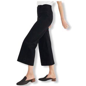 Madewell Emmett Wide-Leg High Waist Black Crop